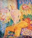 ロベール・ドローネー 「裸婦と朱鷺」Akte und ibisse 1907