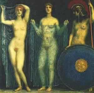 Die Drei Gottinnen Athena Hera Aphrodite by Franz von Stuck (1863–1928)