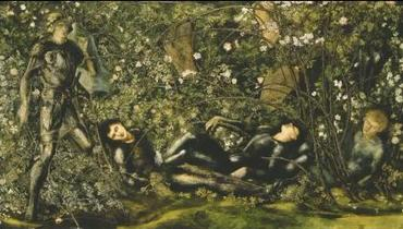 The prince entering the briar wood(1869年) byEdward Burne-Jones Christie's London