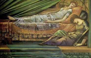 The Sleeping Princess(1886 - 1888) Edward Burne-Jones His daughter Margaret and this study was given to her in 1888