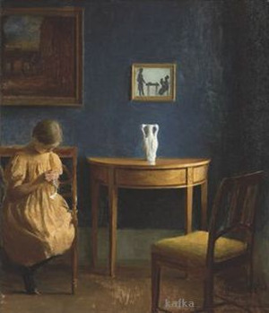 Girl in an interior 1904