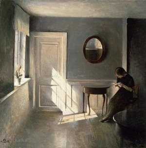 Peter Vilhelm Ilsted - Girl Reading a Letter in an Interior