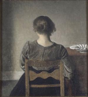 Vilhelm Hammershoi Hvile también llamado el Descanso 1905 museo de Orsay