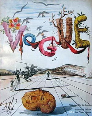 Vogue cover by Salvador Dali,  April 1, 1944