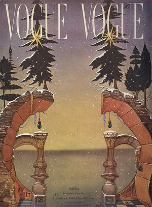 Salvador Dali, Chritsmas Vogue cover, 1946