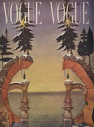Salvador Dali, Chritsmas Vogue cover, 1946