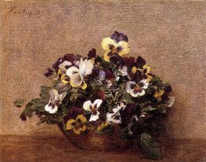 Pansies Henri Fantin-Latour - 1887