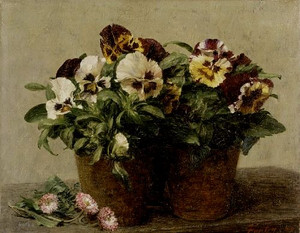 Still Life with Pansies and Daisies 1880