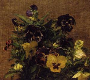 Pansies Henri Fantin-Latour - circa 1879