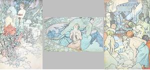 クリオ ミュシャ 挿絵 1900年 画像はかなり大きいです。クリックしてください。