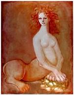 リトグラフ 「FEMME LION」