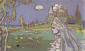 画像引用:NHK世界美術館紀行〈9〉レンバッハハウス美術館 p101 「花嫁」1903年