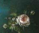 エリザベト・ヴィジェ・ルブラン(Elisabeth Vigee-Lebrun)の描いた「薔薇を持つサテンドレスのマリー・アントワネット」(Marie Antoinette - 1779)のディティール
