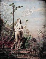 「アダム:金の時代・星・陶酔」(1886年)