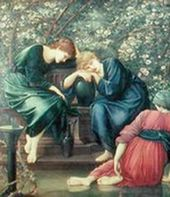 Date:unkown「The Garden Court」 (3rd )by Edward Burne-Jones